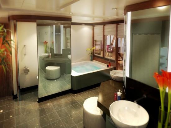 Norwegian Epic Suite Bath