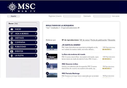 MSC Web TV