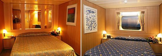 Cabins internas vs. externas