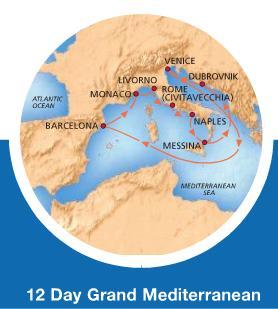 Carnival Magic - 12 dias Mediterraneo