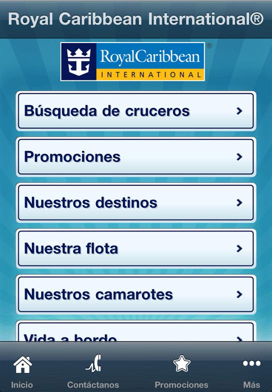 Royal Caribbean - Aplicacion iPhone